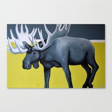 Minimalist Moose Canvas Print