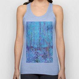 Van Gogh Trees & Underwood Aqua Lavender Unisex Tank Top