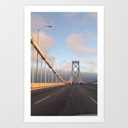 San Francisco Bay Bridge by sunset Art Print