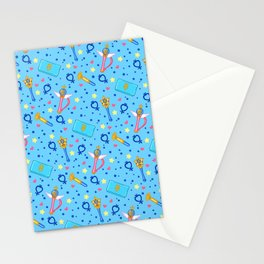 Sailor Mercury Pattern / Sailor Moon Stationery Cards