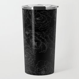 Peony Flower Pattern III Travel Mug