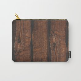 Rustic brown old wood Carry-All Pouch