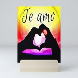Te amo in Pop-art Mini Art Print