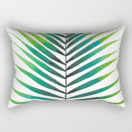 Tropical Palm Leaf #1 | Watercolor Painting Rectangular Pillow