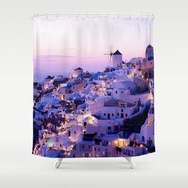 Santorini Night Shower Curtain