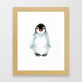Molly the baby penguin Framed Art Print