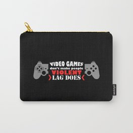 Video Game Violence Carry-All Pouch