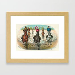 Vintage Horse Racing Ahead Of All Framed Art Print