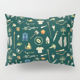 Lord of the pattern green Pillow Sham