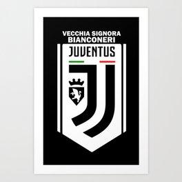 Slogan Juventus Art Print
