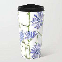 blue chicory watercolor Travel Mug