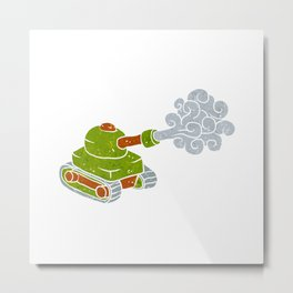 cartoon tank. Metal Print
