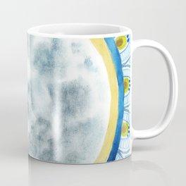 Cat Moon Indian Blossom Mandala Coffee Mug