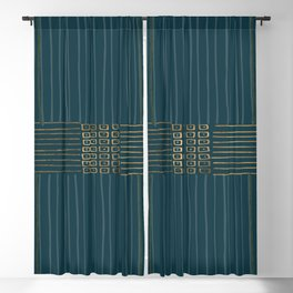 Golden Peacock Blackout Curtain