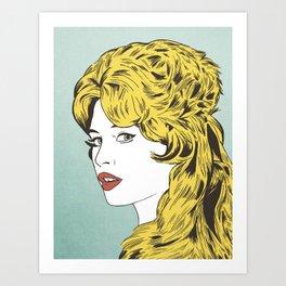 Blonde Bombshell Art Print