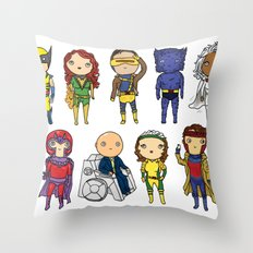Super Cute Heroes: X-Men Throw Pillow