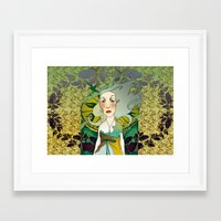 mucha Framed Art Prints featuring mucha chas by lilumon