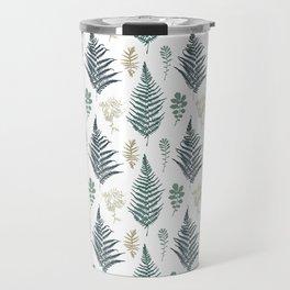 turquoise fern pattern Travel Mug