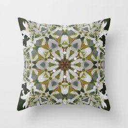 Lacy Serviceberry kaleidoscope - Amelanchier 0033 k5 Throw Pillow