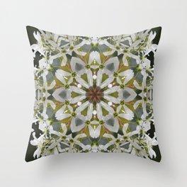 Lacy Serviceberry kaleidoscope - Amelanchier 0033 k5 Throw Pillow