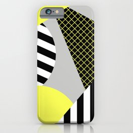Eclectic Geometric - Yellow, Black And White iPhone Case