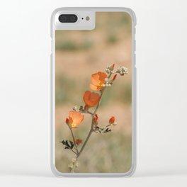 Desert Wildflower - 1 Clear iPhone Case