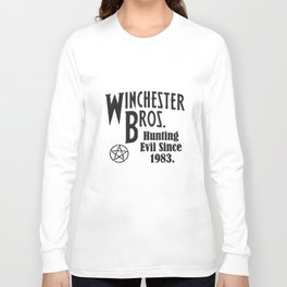 Supernatural winchester Bros Hunting Evil Since 1983 Ladies Supernatural T-Shirts Long Sleeve T-shirt