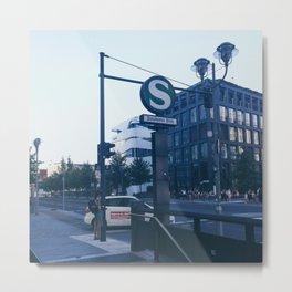 Berlin S-bahn Station Potsdamer platz Metal Print