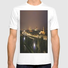 Florence At Night Mens Fitted Tee White MEDIUM