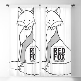 Red Fox, Wildlife of America Blackout Curtain