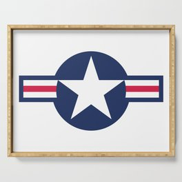 US Air-force plane roundel HQ image Serving Tray