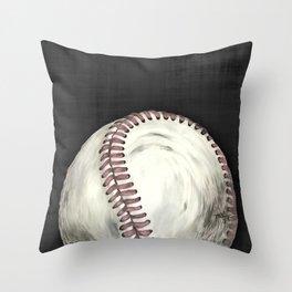 Vintage Baseball Art Throw Pillow