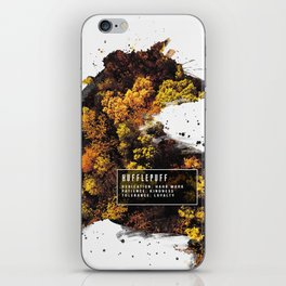 Hufflepuff Nature iPhone Skin