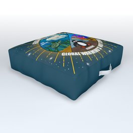 Facing Extinction:  Global Warming's Not Cool 2 Outdoor Floor Cushion