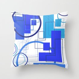 Typography: Stencil F and Adequate Light O Throw Pillow