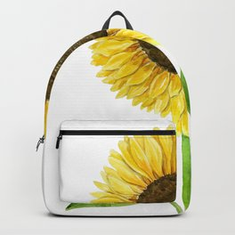Sunflower watercolor Backpack