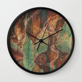 Ecstatic Pelvis (Meat Flame) Wall Clock