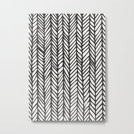 Black Threads Metal Print
