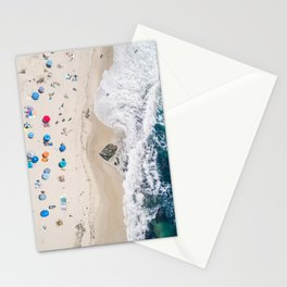Beachin' it aerial photograph Stationery Cards