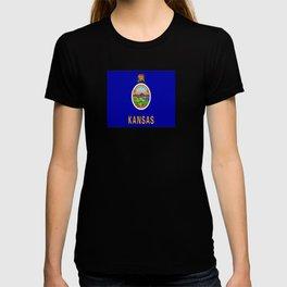 flag Kansas-america,usa,middlewest,Sunflower State, Kansan,Topeka,Wichita,Overland Park,Wheat State T-shirt