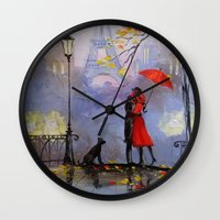 romantic Wall Clocks featuring Romantic by OLHADARCHUK