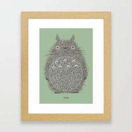 Green Totoro Framed Art Print