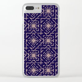 Rotate squares Clear iPhone Case