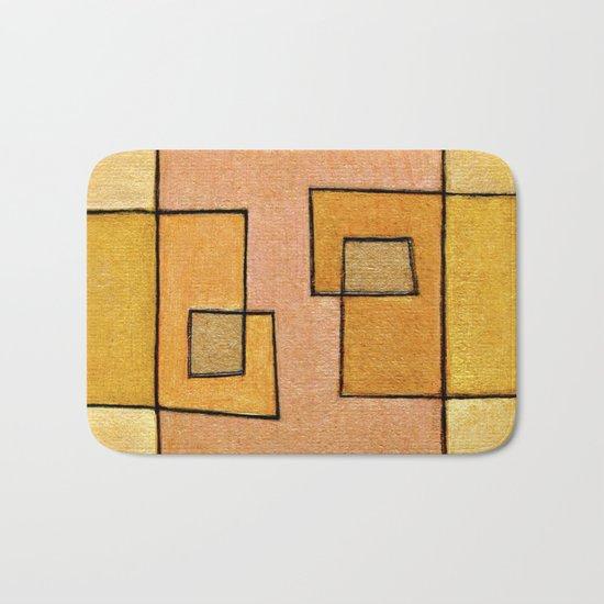 Protoglifo 04 'yellow hugging pink' Bath Mat