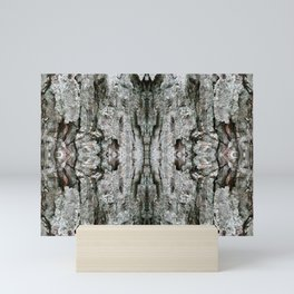 Abstract Maple Bark & Lichen - Natural Patterns Old Mossy Maple Tree Bark Mini Art Print