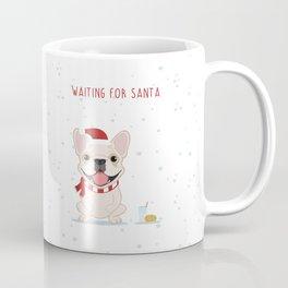 French Bulldog Waiting for Santa - Cream Edition Coffee Mug