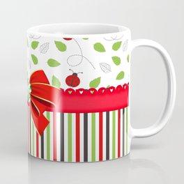 Flourishing Ladybugs Colorful Strips Coffee Mug