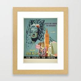 Vintage poster - Spain Framed Art Print
