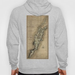 Vintage Map of Lake Champlain (1865) Hoody