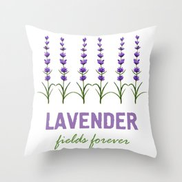Lavender fields forever Throw Pillow